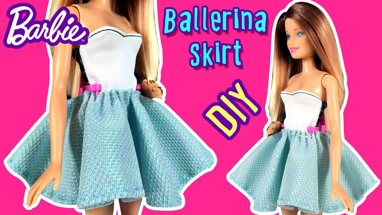 How to make ballerina skirt for barbie doll diy barbie clothes how to make ballerina skirt for barbie doll diy barbie clothes making kids toys youtube solutioingenieria Choice Image