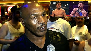 """Mike Tyson:  """"Pacquiao beats Spence his movement will give him trouble """""""