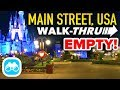Main Street USA Walkthrough EMPTY Disney After Hours in the Magic Kingdom!
