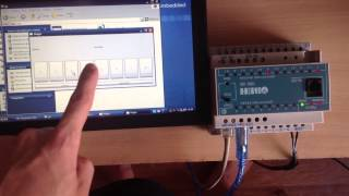 Interaction of PLC and embedded computer