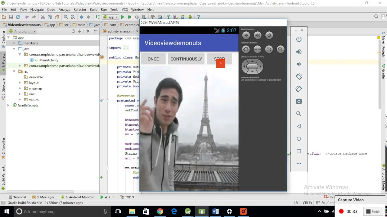 Android Videoview Tutorial With Example Programmatically In Android