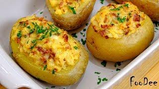 От такой картошки в духовке не откажется никто! Фаршированный картофель запеченный в духовке