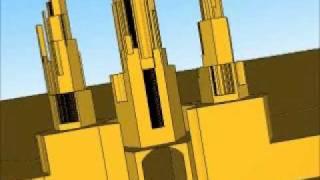 Google SketchUp Art / Music of Rod Teeter Wisconsin Dells USA Gold 01