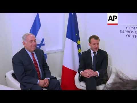 Macron meets Spain's King Felipe, Jordan's King Abdullah, and Netanyahu