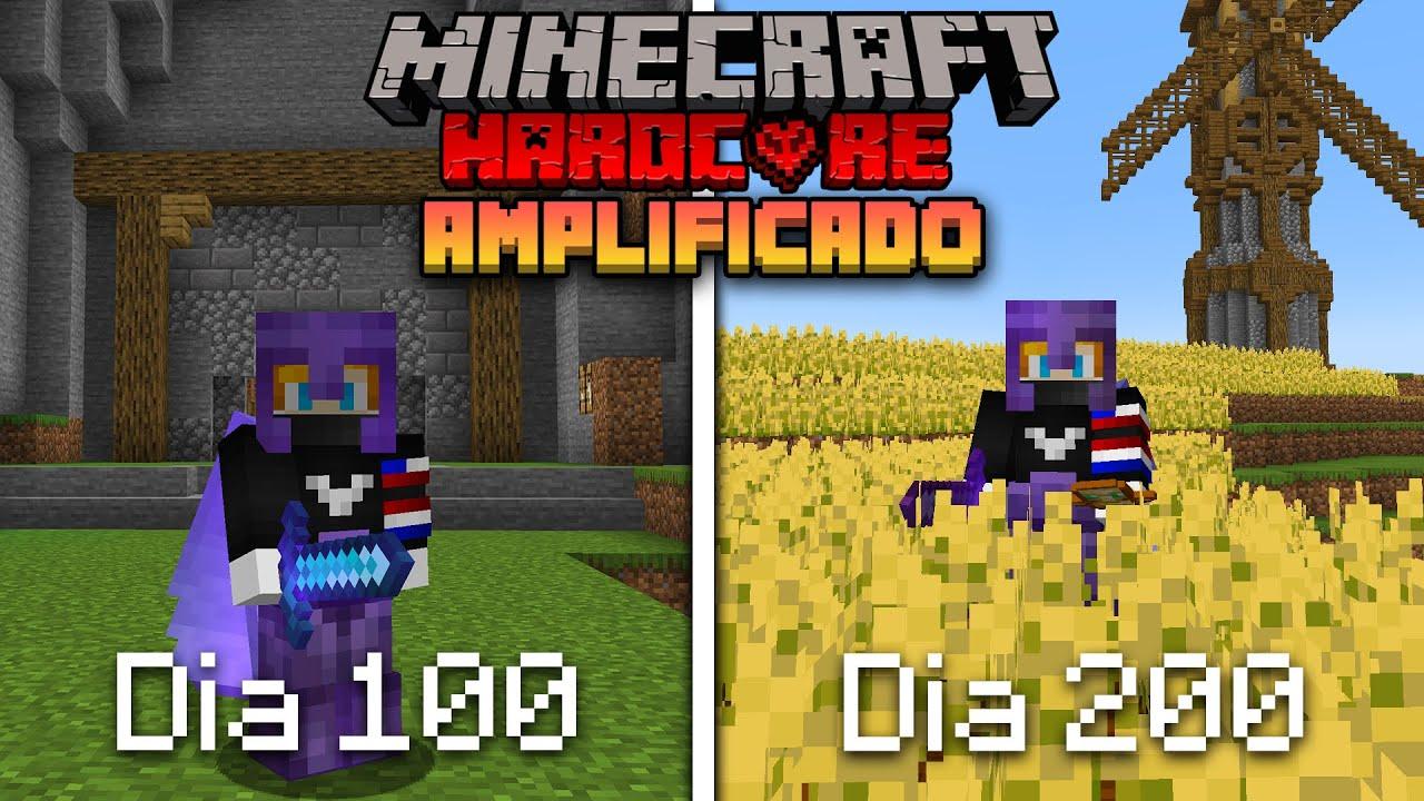 Download SOBREVIVÍ 200 Días en un MUNDO AMPLIFICADO en Minecraft HARDCORE... Esto es lo que pasó