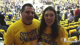 Fans talk Bogut vs Dellavedova at Game 1 of NBA Finals
