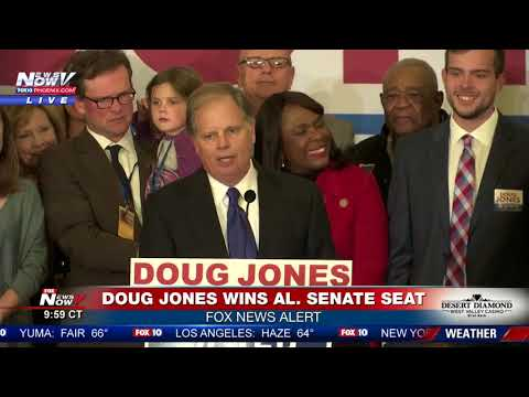 WATCH: Doug Jones Alabama Senate Victory Speech After Defeating Roy Moore (FNN)