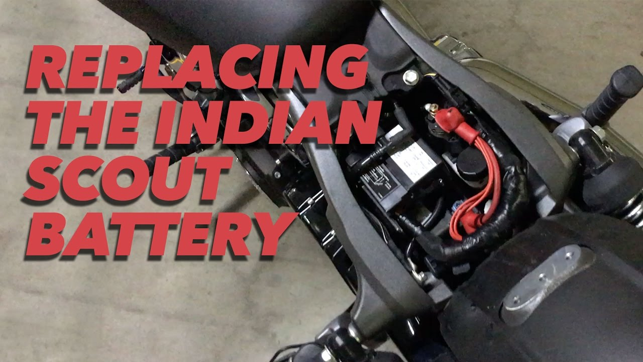 How To Replace An Indian Scout Battery Youtube