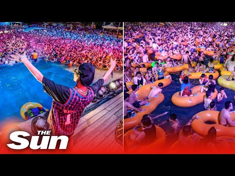 Wuhan pool party sees hundreds packed together in China's fo