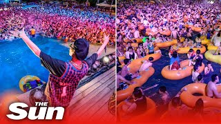 Wuhan pool party sees hundreds packed together in China's former coronavirus epicentre