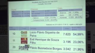 Apuração da eleição da OAB Goiás