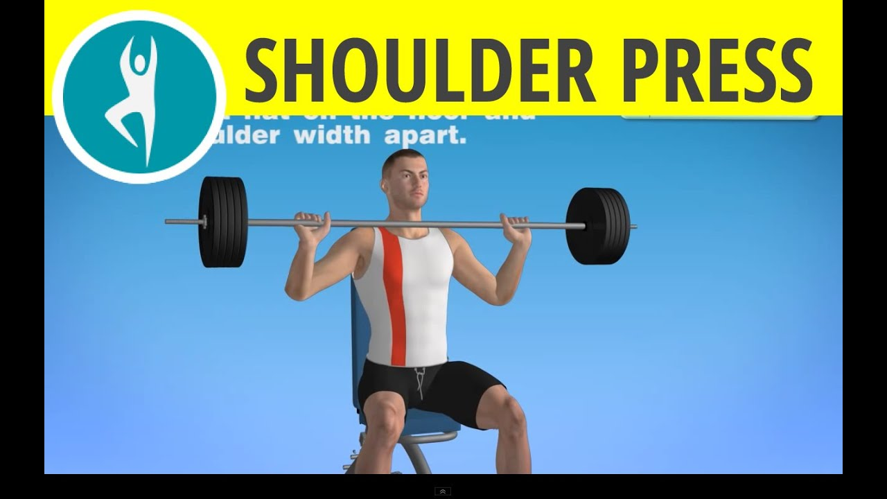 Upper Body Workout At Home Barbell Shoulder Press And Triceps Exercise