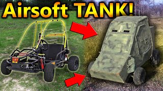 I Turned My Gokart into an AIRSOFT TANK!!!