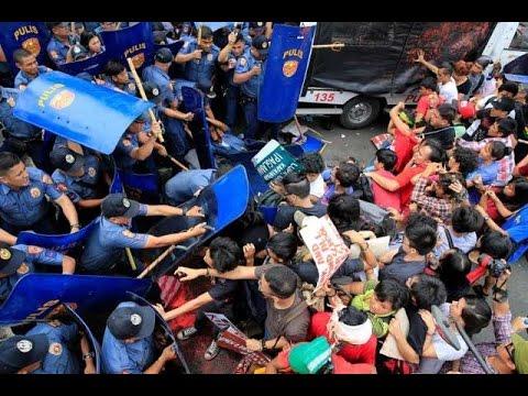 Marahas na dispersal sa mga raliyista sa tapat ng US Embassy, iimbestigahan ng CIDG