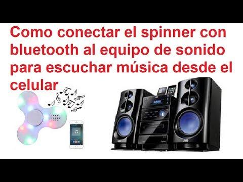 Aprende a convertir tu antiguo equipo de sonido en un reproductor debluetooth ... reciclando un spinner
