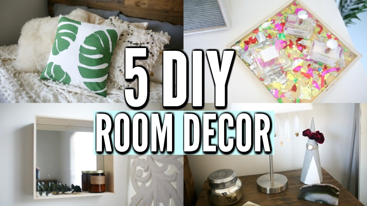 5 DIY Room Decor Ideas Easy Decorations for 2017 YouTube
