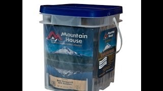 Emergency Food Supply Mountain House Survival Freeze Dried Food Essentials Kits