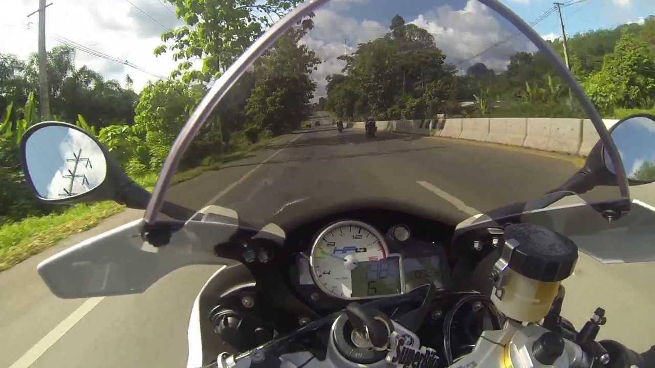 BMW Hp4 Top Speed Test - Sport Mode - Krabi Thailand - YouTube
