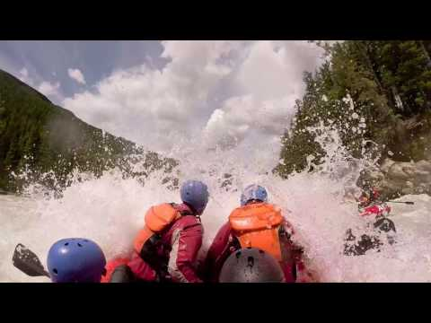 Rafting the Kicking Horse River