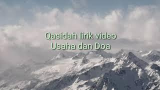 Qasidah lirik video - usaha dan doa NASIDA RIA