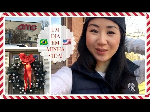 Um dia em minha vida - nos EUA! Cinema, decorando pro Natal... | Vlog ep.6