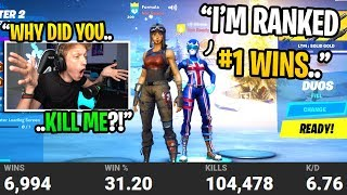 I died to the player with the MOST WINS in Fortnite then added him after... (I confronted him)