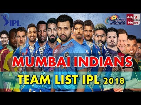Mumbai Indians MI Official IPL 2018 Player List, Team and Full Squad Rohit, Hardik Krunal Pandya