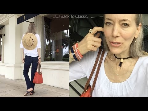 Vlog--Silencing My Inner Critic; Browsing/Lunch Waterside Shops; OOTD / Classic Style Over 40, 50