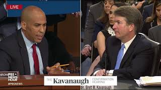 Booker asks Kavanaugh if he respects Trump, and if he