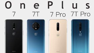 OnePlus 7 vs OnePlus 7 Pro vs OnePlus 7T vs OnePlus 7T Pro: Comparison Overview