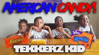 Trying american candy with family!! | tekkerz kid