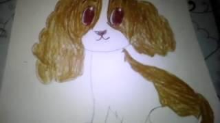 Рисую щенка.Мой первый нормальный рисунок!