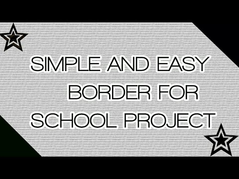simple attractive border design for school projects