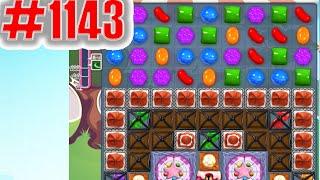 Candy Crush Saga Level 1143, NEW! Complete!