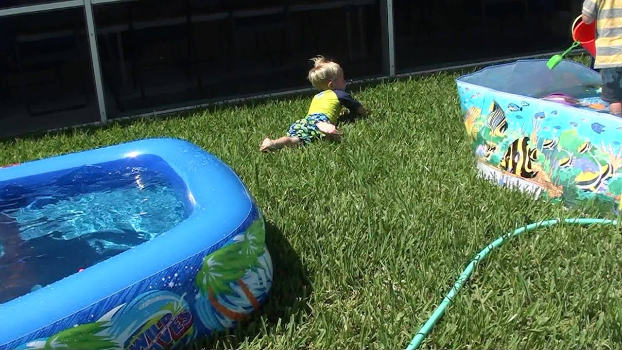 Backyard pool party bloopers youtube for Garden pool party