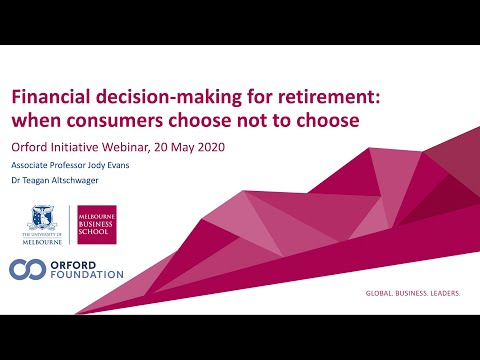 Financial decision-making for retirement: when we choose not to choose