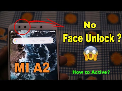 cara aktifkan face unlock mi a2 lite
