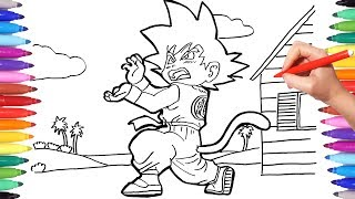 DRAGON BALL Coloring Pages | How to Draw Goku | Goku Coloring Pages for Kids