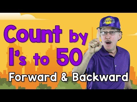 Count by 1's to 50 - Forward and Backward   Counting Song for Kids   Count to 50   Jack Hartmann