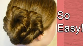 Easy Twist Updo, Everyday Hairstyle Tutorial