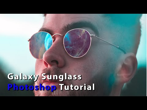How To Make Galaxy Sunglasses In Photoshop | Adobe Photoshop CC 2020 Tutorials
