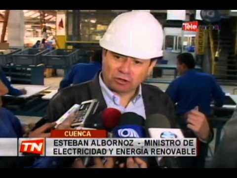 Ministro de electricidad verifica fabricación de cocinas de inducción