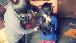 #long hair cut step hair cut step by step #long to short haircut #new hair cut