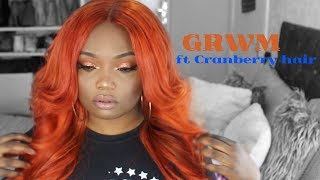 Watch me transform Orange hair ft Cranberry hair