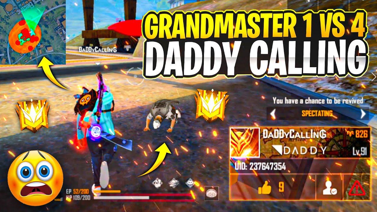 Rip -72 Rank Score 💔 DaaddyCalling In Grandmaster Global Top 99999 Likes 😱  - Garena Free Fire
