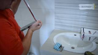 видео Душевая стойка с тропическим душем и смесителем