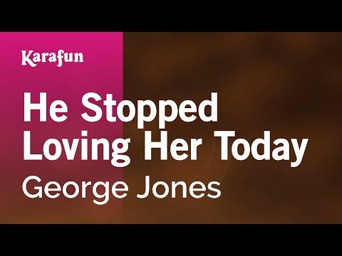 Karaoke He Stopped Loving Her Today  George Jones *