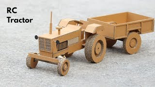 How To Make RC Tractor From Cardboard Very Simple