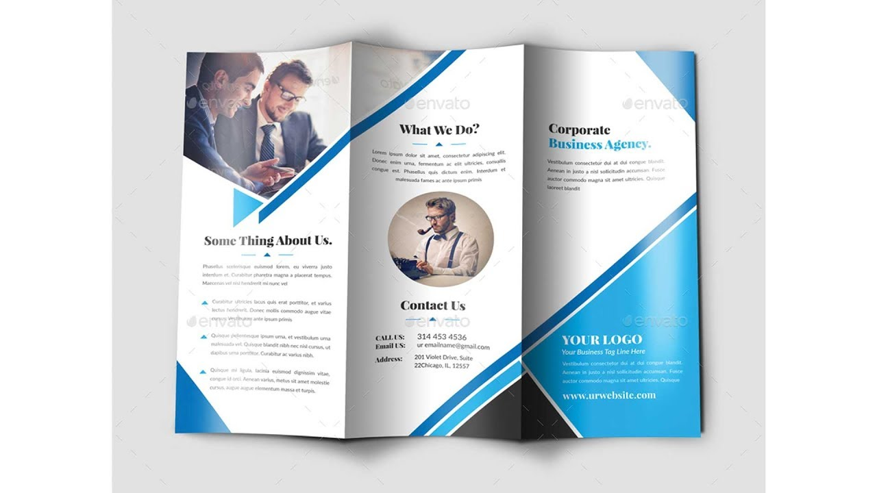 How to Design a TriFold Brochure in Photoshop Part  2