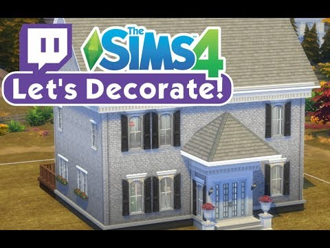 The Sims 4 - Let's Decorate - Rainy's Cape Cod House (Twitch Series)